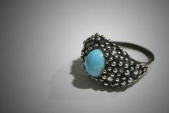 anillo con turquesa