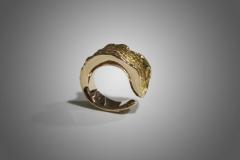 anillo corteza oro