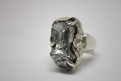 anillo cuarzo gal plateado