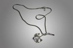 colgantito de plata ginkgo