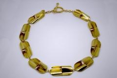 Collar modular banado en oro