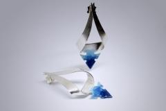 Pendientes Atlántida-esmalte azul