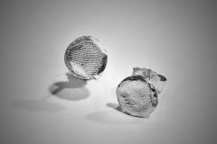 pendientes huella pequeños plata