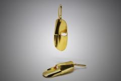 pendientes modulo dorados