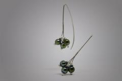 pendientes verde mosca